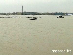 Уральск. Уровень воды в Деркуле поднялся на 2 метра Aksai.Pavodok 2013 5
