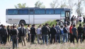 В Атырау задержан автобус с гастербайтерами bus_www.thenews.kz