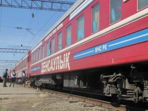"""В Атырау прибыл поезд """"Здоровья"""" gov.kz"""
