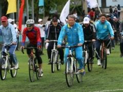 Новости - В целях борьбы с наркоманией Есимов проедет по улицам Алматы на велосипеде фото с сайта www.prosportkz.kz