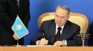 Назарбаев подписал закон о пенсионном обеспечении Президент Казахстана Нурсултан Назарбаев. Фото ©Даниал Окасов