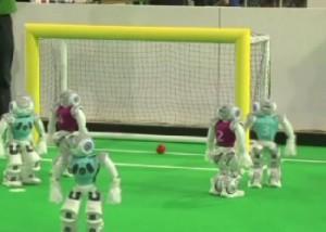 В Нидерландах завершился футбольный чемпионат среди роботов Фото с сайта 24.kz
