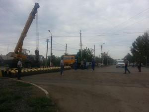 Уральск. Проспект Абулхаир хана перекрыли на два месяца 1