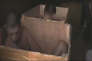 Воры проникли на одесский склад в коробках Фото: пресс-служба УМВД Украины в Одесской области