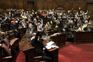 Парламент Уругвая принял закон о легализации марихуаны Парламент Уругвая голосует за принятие закона Фото: Andres Stapff / Reuters