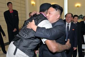 Деннис Родман раскрыл имя дочери Ким Чен Ына Деннис Родман и Ким Чен Ын Фото: KCNA / AFP