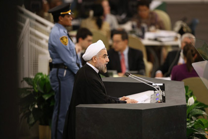 Новости - Президент Ирана счел Холокост «достойным порицания» Хасан Рухани Фото: John Moor / Getty Images / AFP