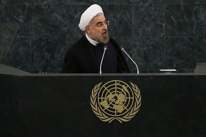Новости - Президент Ирана отказался от встречи с Обамой Президент Ирана Хасан Рухани во время выступления перед Генеральной ассамблеей ООН Фото: Spencer Platt / GETTY IMAGES NORTH AMERICA / AFP