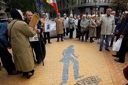 В Одессе открыли памятник тени Пушкина Фото: dumskaya.net