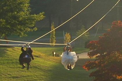 Новости - Американская пара устроила свадьбу на тросах Кадр: телеканал ABC