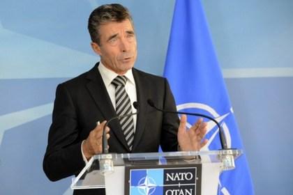 Генсек НАТО отказался от военного решения сирийского конфликта Андерс Фог Расмуссен Фото: Thierry Charlier / AFP
