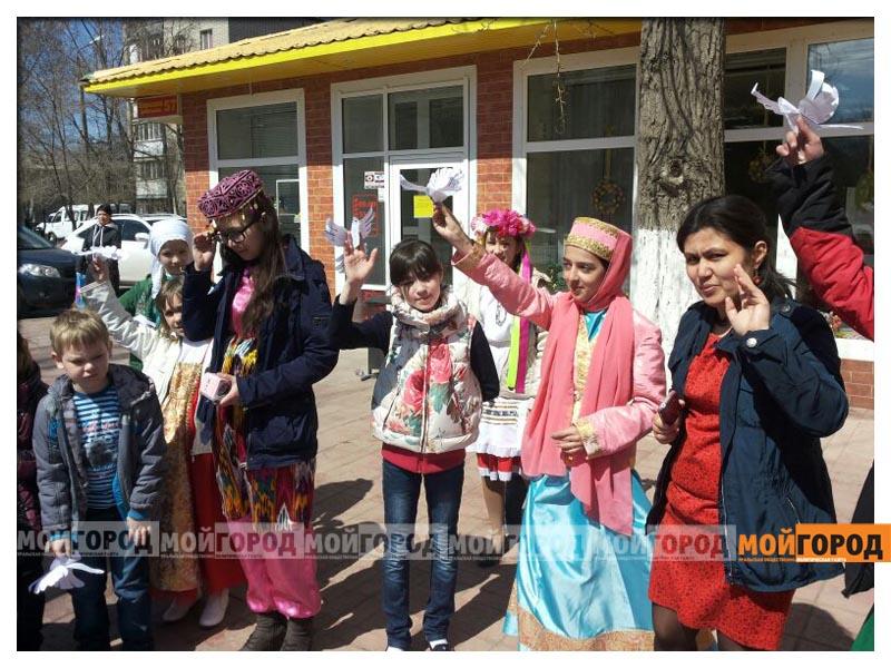 В Уральске дети провели акцию к 1 мая akciya4