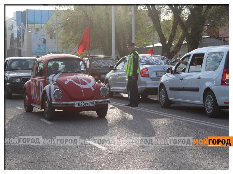 «Спасибо деду за победу!» - автопробег в Уральске(фото, видео) 9maya_probeg4