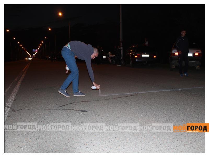 Новости Уральск - В Уральске на гонках полицейские переписывали госномера  avto2