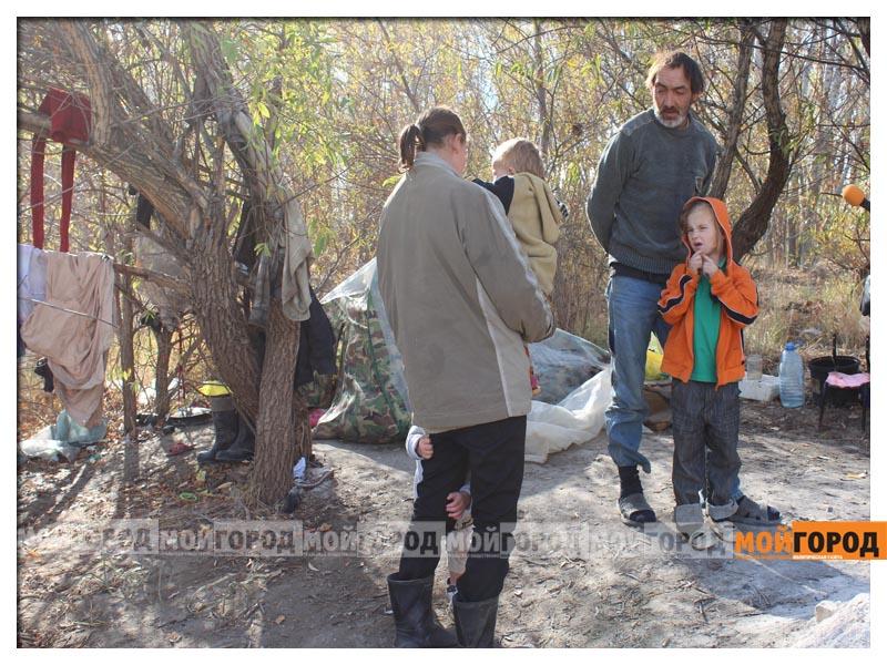 Новости Уральск - В Уральске семья с малолетними детьми живет в лесу (видео) detivlesu20