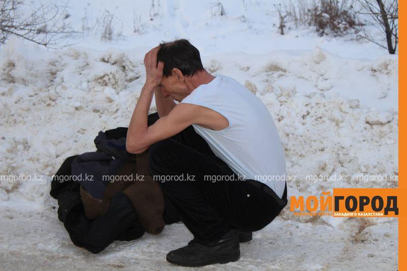 В Уральске в знак протеста мужчина разделся на морозе avtouragan11