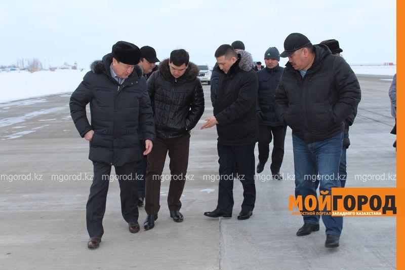 """Комиссия в аэропорту Уральска: """"Полосу отремонтируют, полетам ничего не угрожает"""" airport1"""