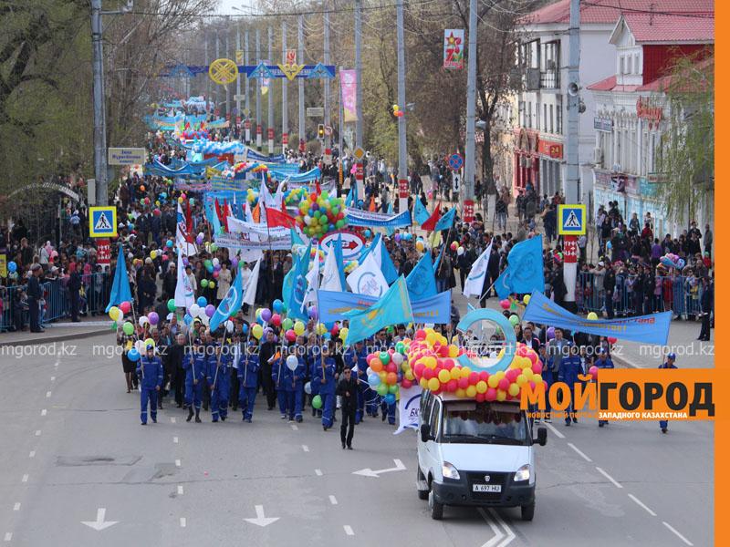 Первомайское шествие пройдет в Уральске