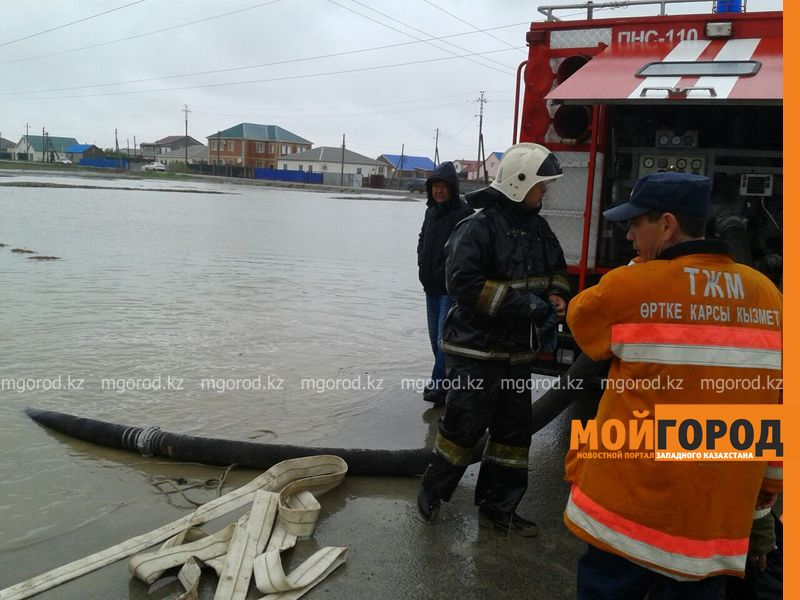В Атырау из-за сильного ливня эвакуированы жители 15 домов potop (1)