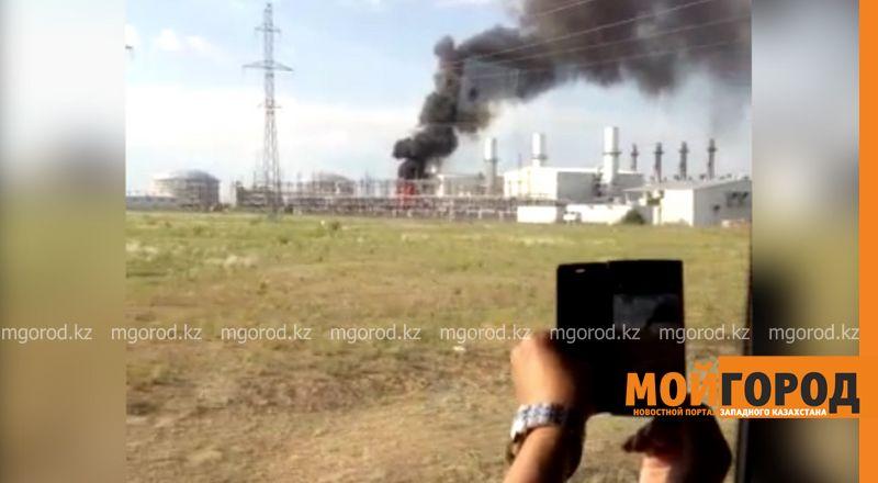 На месторождении Карачаганак в ЗКО произошел пожар (видео)  kpo