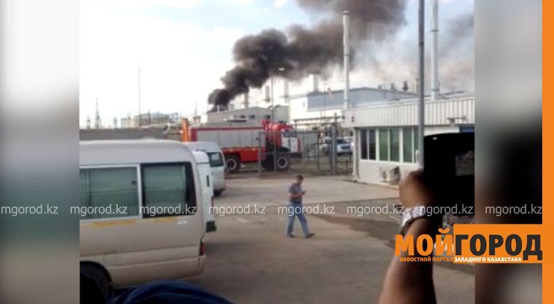 На месторождении Карачаганак в ЗКО произошел пожар (видео)  kpo2