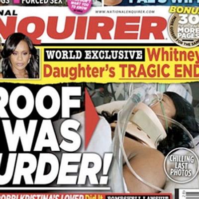 Фото умирающей дочери Уитни Хьюстон продано за рекордную сумму Фото National Enquirer Бобби Кристина в хосписе