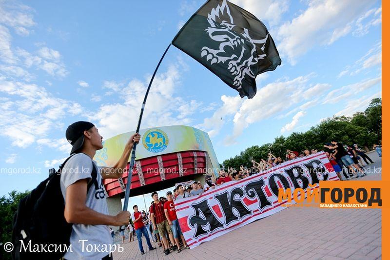 Как фанаты ФК «Актобе» поддержали свою команду (фото, аудио, видео) football (2)