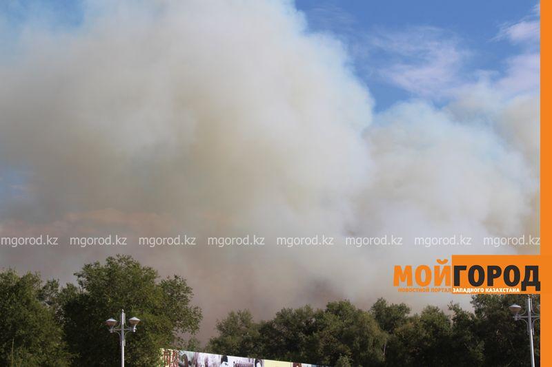 Новости Уральск - 80 пожарных борются с огнем в пригороде Уральска les (1)