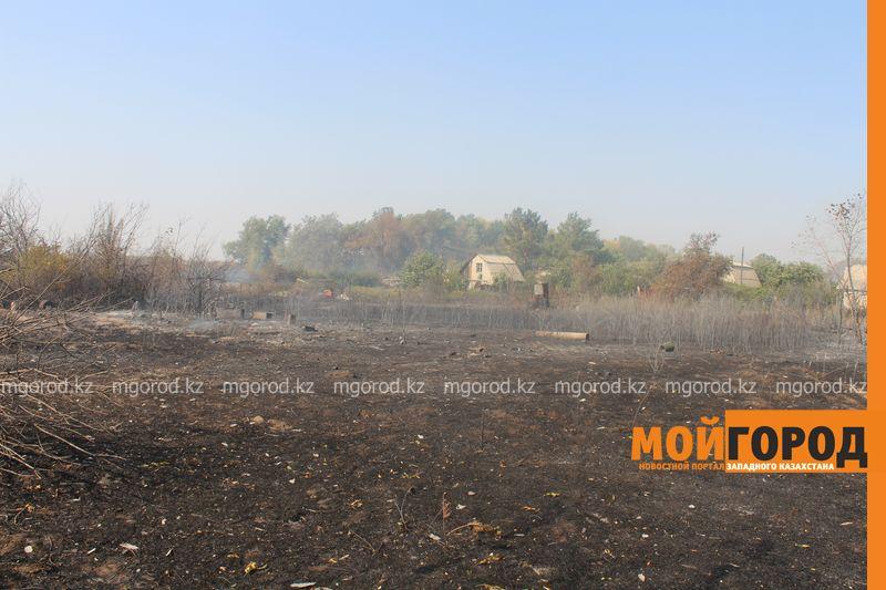 Сильный пожар уничтожает дома вблизи Уральска dachi (14)