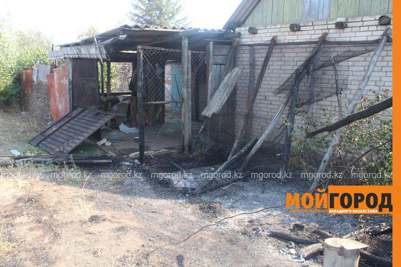 Сильный пожар уничтожает дома вблизи Уральска dachi (17)