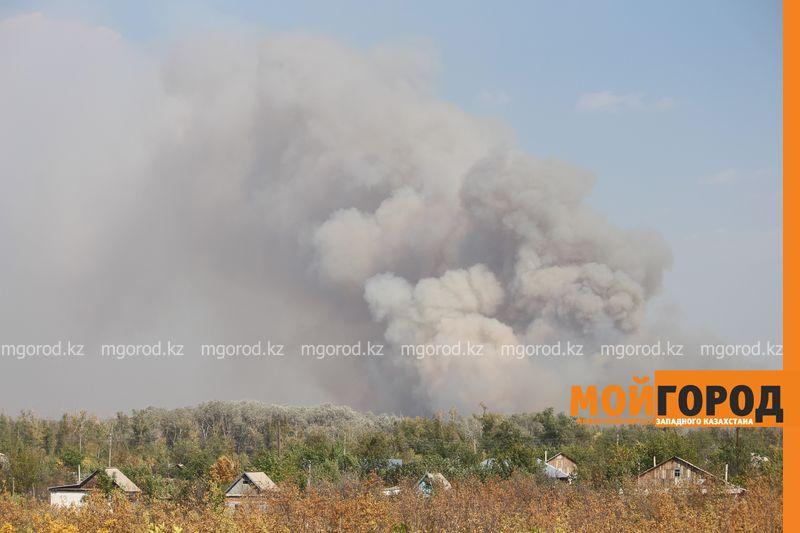 Сильный пожар уничтожает дома вблизи Уральска dachi (2)