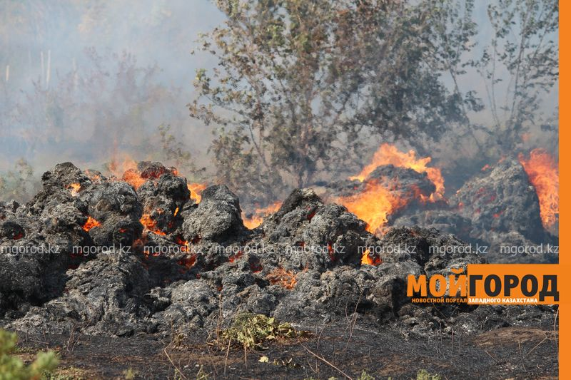Сильный пожар уничтожает дома вблизи Уральска dachi (7)