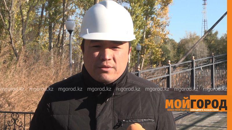 Новости Уральск - Строительные работы на правом берегу парка отдыха в Уральске завершены на 70% Алмас Пишембаев