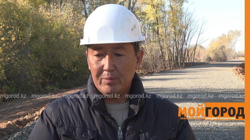 Новости Уральск - Строительные работы на правом берегу парка отдыха в Уральске завершены на 70% Турехан КОСПАНОВ