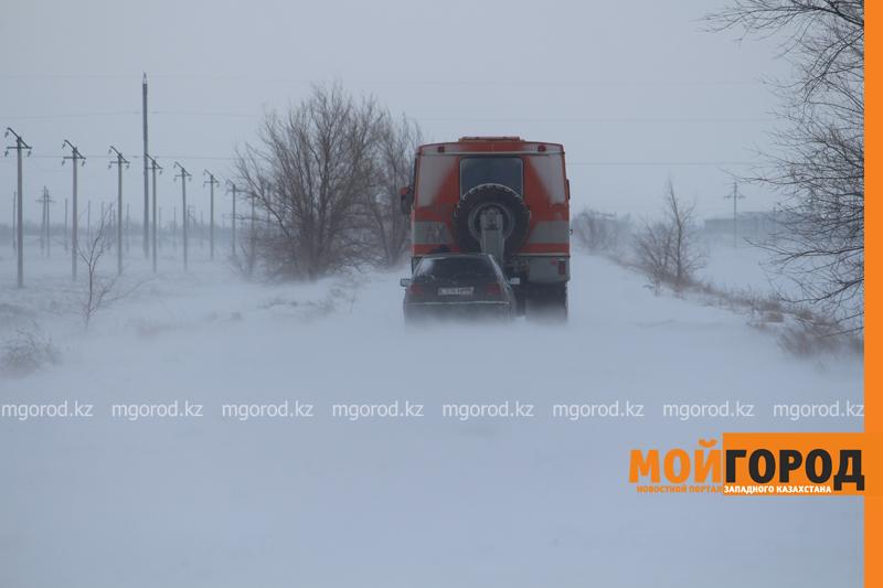 Новости Уральск - В ЗКО закрыли трассу из-за метели