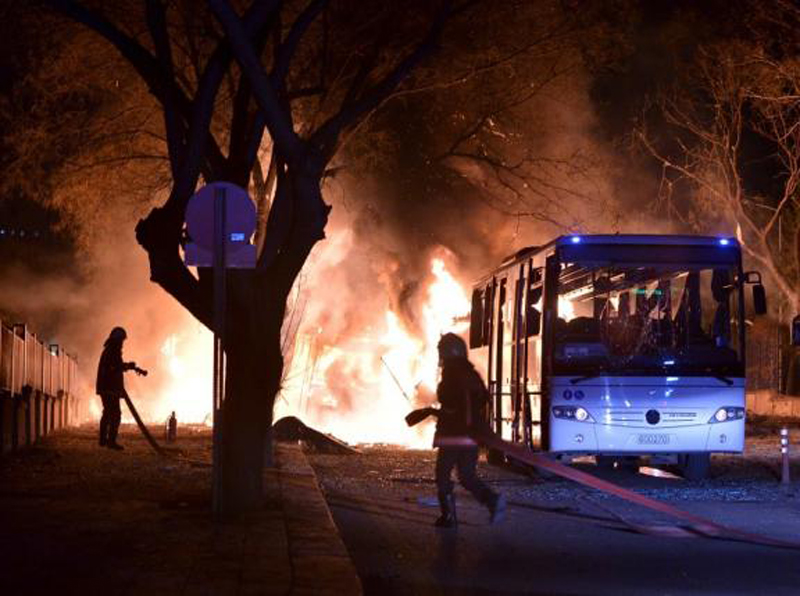 28 человек погибли в результате взрыва в центре Анкары