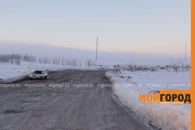 Новости Уральск - В ЗКО дорога до границ с РФ оказалась под угрозой смыва doroga taskala (1)
