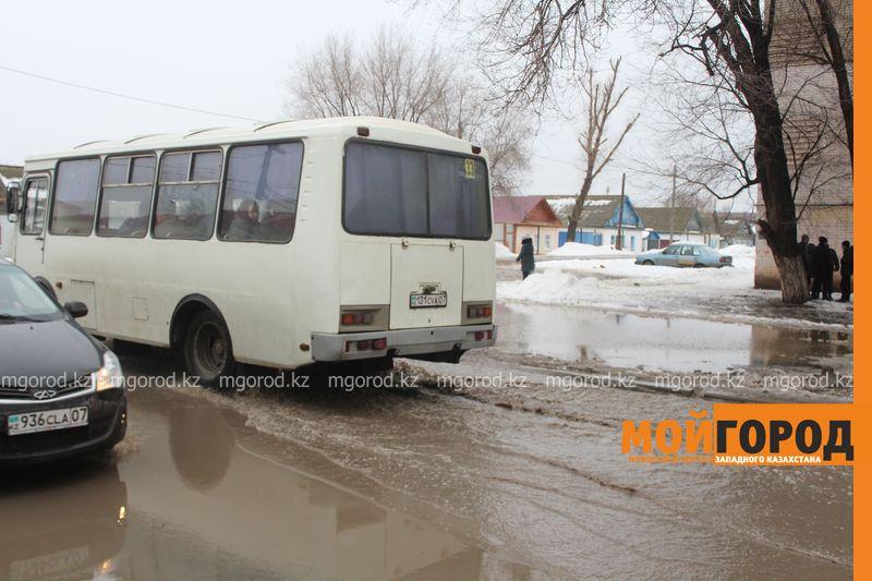 В Уральске в новом ЦОНе с крыши течет вода (фото) talovaya voda (4)