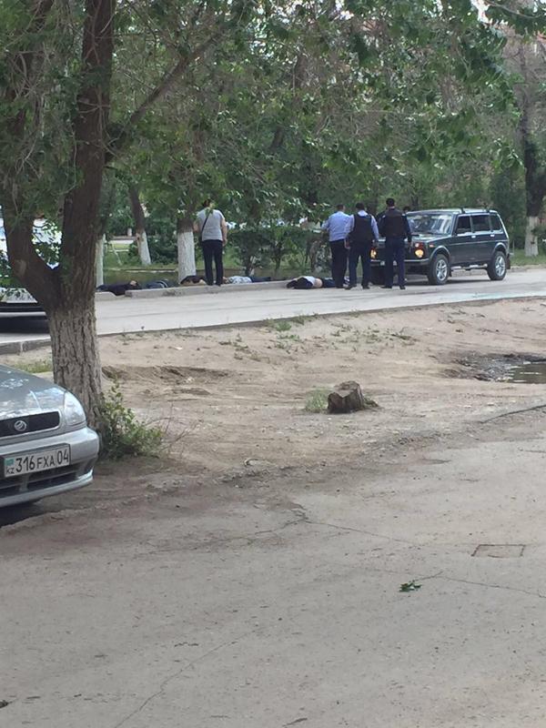 В трех районах Актобе произошла перестрелка (видео) 555