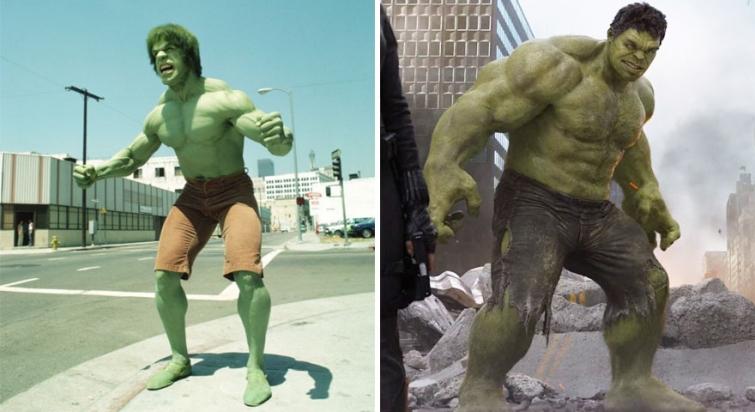Халк в 1978 году и в 2012
