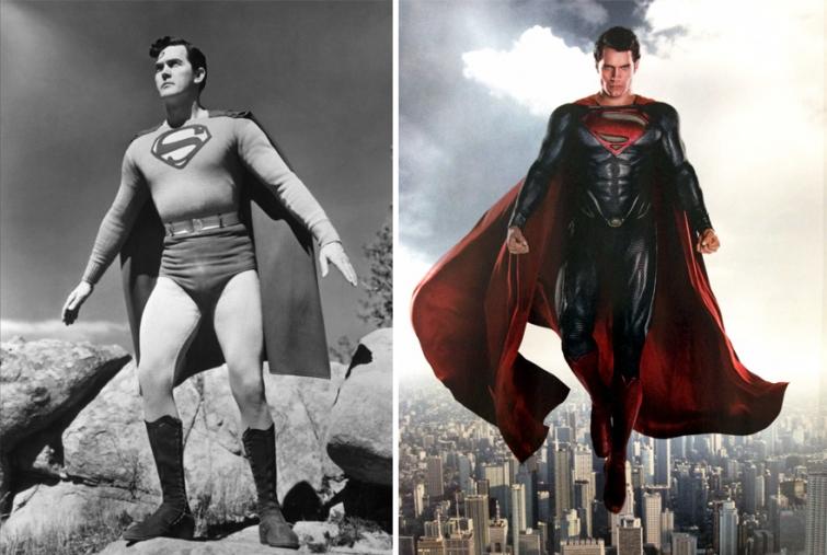 Супермен в 1948 году и в 2016