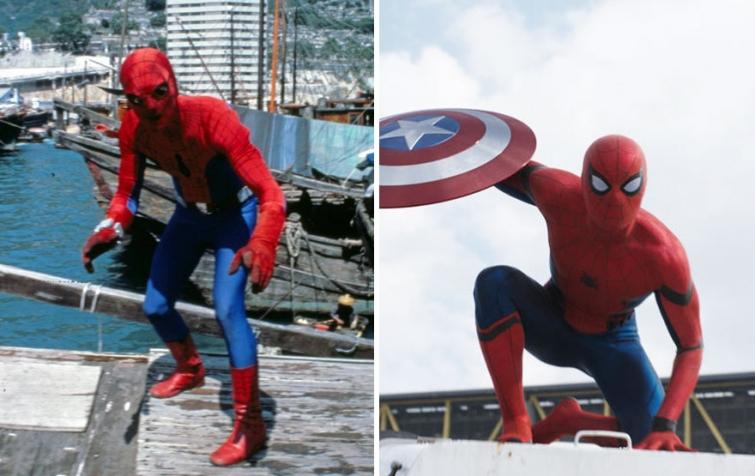 Человек-паук в 1977 году и в 2016