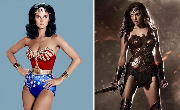 Чудо-женщина в 1975 году и в 2017