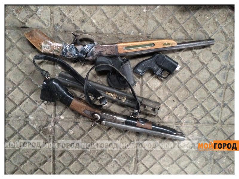 Обрезы и наркотики нашли полицейские Актау у жителя соседней области orujie1