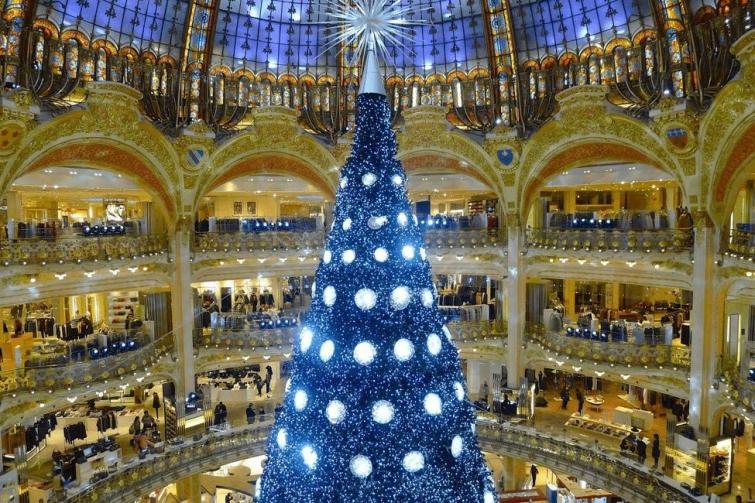 Прекрасная ёлка под куполом, Париж, Франция