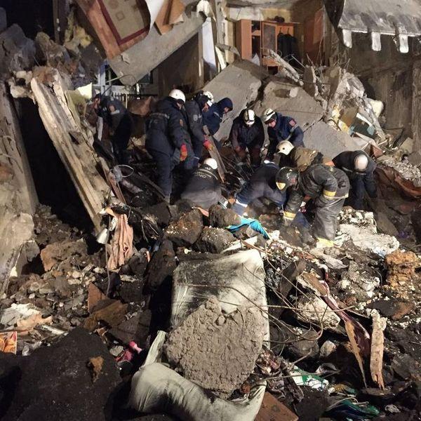 Новости - В Карагандинской области обрушился многоэтажный дом: погибли 9 человек Фото КЧС МВД РК