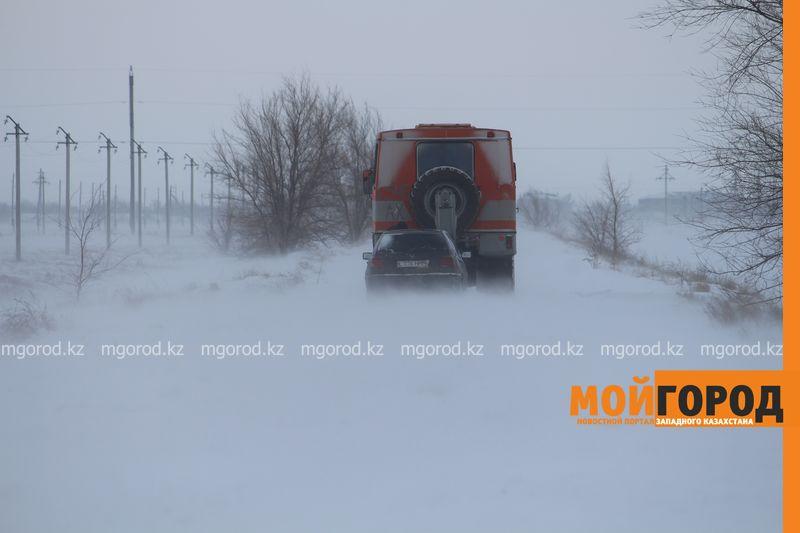 Новости Актобе - Застрявших в снежных заторах будут спасать джиперы из Актобе