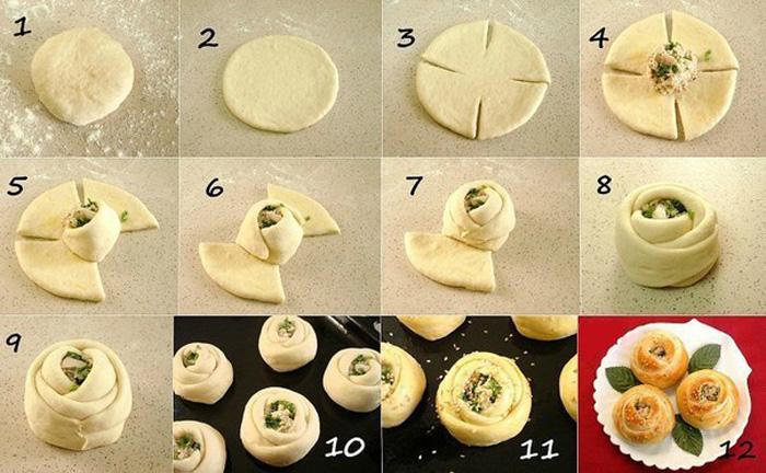 Как лепить пирожки пошагово с
