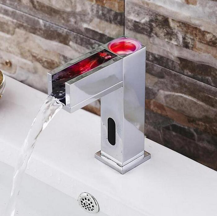 Led-Бесконтактный-датчик-Бассейна-кран-автоматический-ванной-кран-смеситель-для-Раковины-Ванная-Комната-датчик-кран-раковина