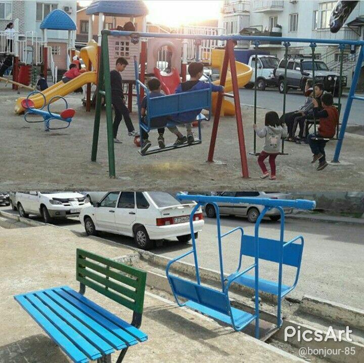 Новости Атырау - В Атырау вандалы громят детские площадки Фото из социальных сетей